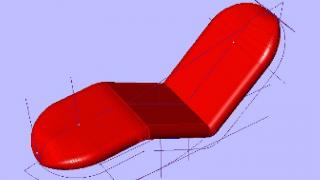 新型ソファーの3次元設計